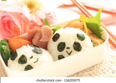 homemade Lovely Japanese decoration bento for kid menu