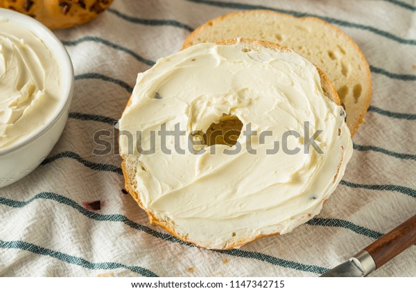 Homemade Low Fat Cream Cheese Spread in a Bowl