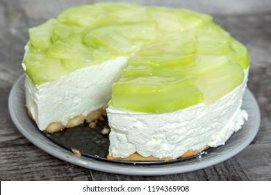 Homemade Melon Cream Cake