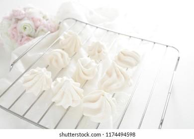 Homemade meringue candy