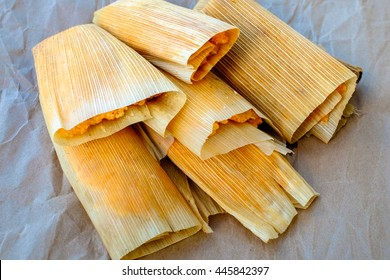 homemade Mexican tamales
