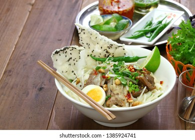 homemade mi quang noodle, vietnamese cuisine