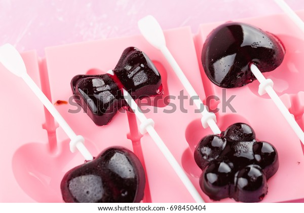 Homemade Natural Fruit Lollipops Silicone Mold Stock Photo (Edit Now