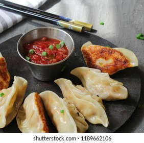 Homemade Nepali Momos Dumplings served with Tomato chutney / Traditional Chinese Korean DimSum