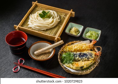 homemade noodles of Japanese food(udon)