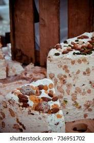 Homemade Nougat, Local Market, Saints Alvère, France
