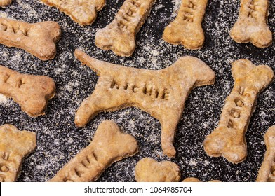 Homemade oatmeal dog treats with carrots