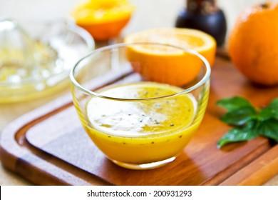 Homemade Orange with Black sesame vinaigrette