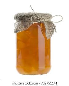 Homemade Orange Jam Isolated