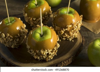 Homemade Organic Candy Taffy Apples for Halloween