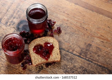 Homemade Organic Jam and Whole Grain Bread