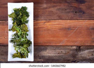 homemade oven baked olive oil and sea salt kale chips healthy snack