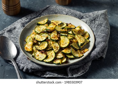 Homemade Oven Roasted Zucchini Slices with Garlic and Pepper