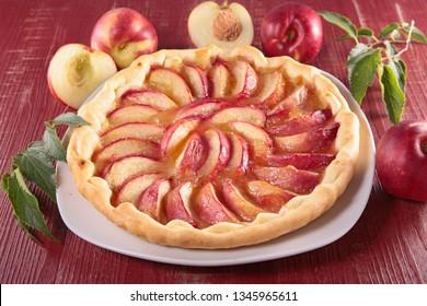 homemade peach tart