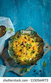 Homemade Persian Jeweled Rice / Iranian Pilaf or Pulao overhead view