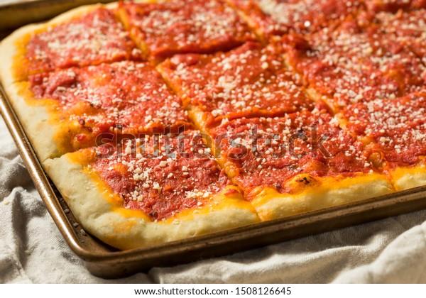 Homemade Philadelphia Tomato Pie Grated Cheese Stock Photo Edit Now 1508126645