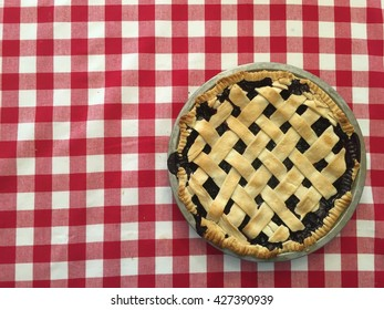 Homemade Pie On The Table.