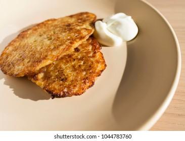 homemade Polish potato pancakes - a national dish