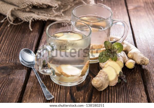 Homemade portion of fresh Ginger Tea