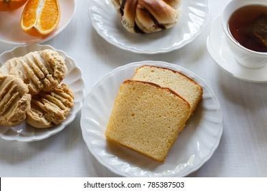 homemade pound cake.