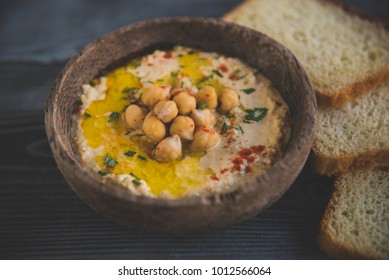 Homemade prepared humus