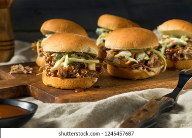 Homemade Pulled Pork Sliders with Barbecue Sauce