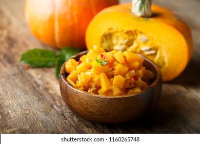 Homemade pumpkin chutney