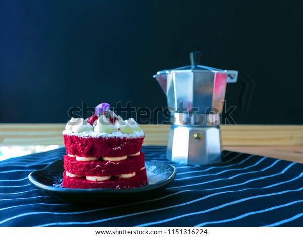 Homemade Red Velvet Cake Chocolate Cake Stock Photo (Edit Now ...