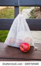 Homemade reusable shopping bag for fruits and vegetables