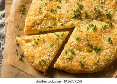 Homemade Russian Cheese Stuffed Bread with Parsley
