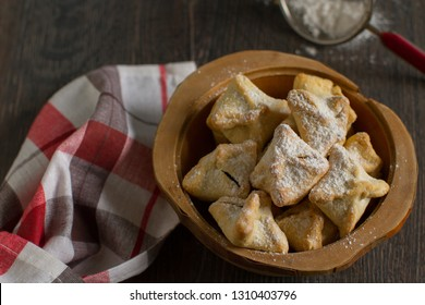 Homemade rustic butter biscuits filed with plum jam