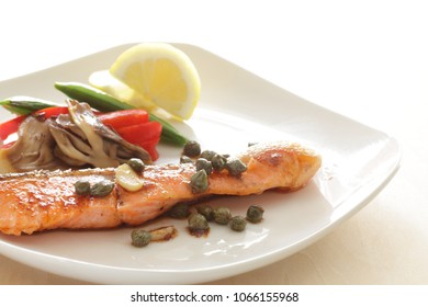 Homemade Salmon and Caper sauteed