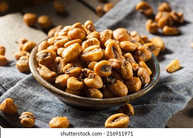 Homemade Salty Corn Nuts in a Bowl