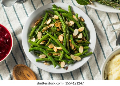 Homemade Sauteed Green Beans with Almonds for Thanksgiving
