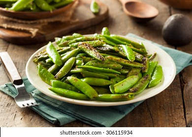 Homemade Sauteed Sugar Snap Peas Ready to Eat