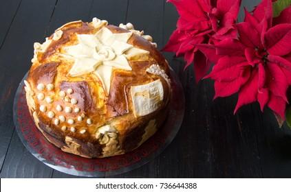 Homemade Serbian slava bread and Christmas tree