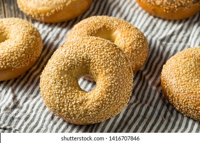 Homemade Sesame Seed Bagels Ready to Eat