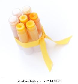 Homemade set of lip balms