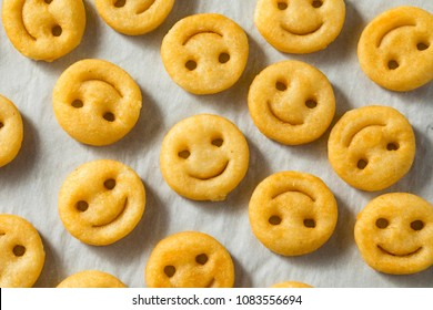 Homemade Smiley Face French Fries with Ketchup
