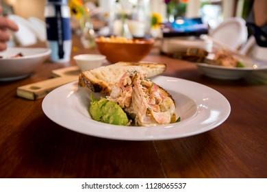 homemade smoked salmon with avocado