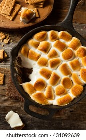 Homemade S'mores Dip with Graham Crackers Marshmallow and Chocolate