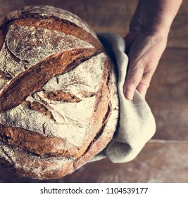 Homemade sourdough bread food photography recipe idea