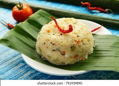 Homemade South Indian breakfast dish- upma,uppma.