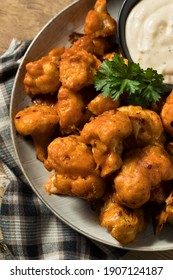 Homemade Spicy Buffalo Cauliflower Wings with Ranch