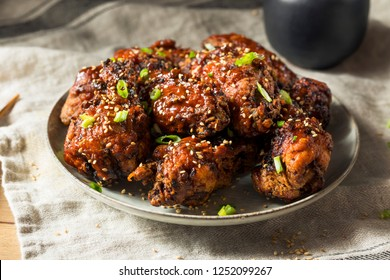 Homemade Spicy Korean Chicken Wings with Sesame Seeds