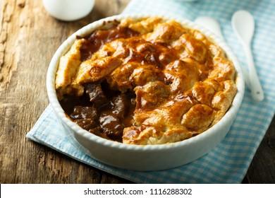 Homemade steak pie