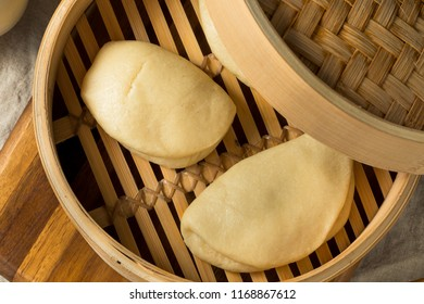 Homemade Steamed Chinese Bao Buns Ready to Eat
