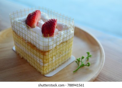 Homemade Strawberry Short Cake with Fresh Strawberry