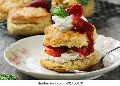 Homemade Strawberry shortcake  / Mothers day dessert