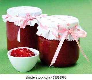 Homemade strawberry/rhubarb jam